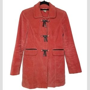 ANTHRO elevenses corduroy trench coat red XS red